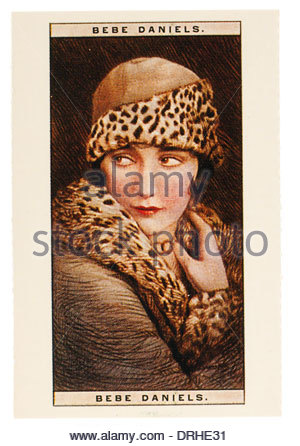 Image of Bebe Daniels  was an American actress, singer, dancer, writer and producer 1901-1971. EDITORIAL ONLY - Stock Photo