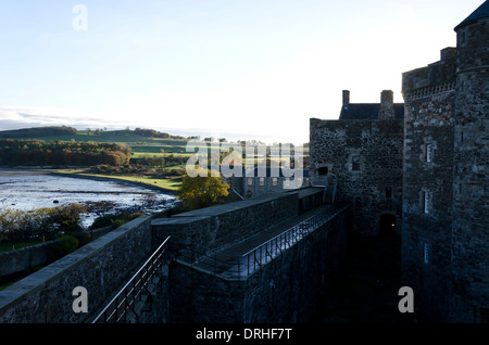 Looking south from Blackness Castle on the shore of the River Forth in West Lothian, Central Scotland. - Stock Photo
