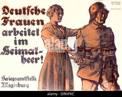 German propaganda poster, WW1 - Stock Photo