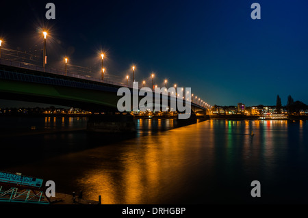 Kennedy bridge in Bonn - Stock Photo