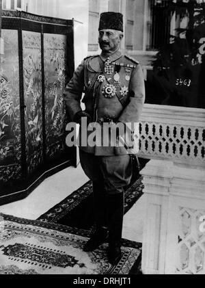 Kaiser Wilhelm II in Turkish uniform and fez, WW1 - Stock Photo