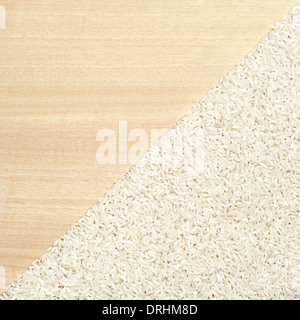 Background with grains of rice closeup - Stock Photo