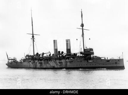 HMS Endymion, Edgar-class cruiser, WW1 - Stock Photo