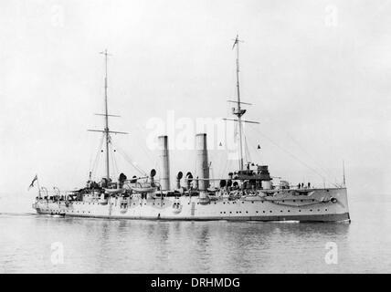 HMS Crescent, Edgar-class cruiser, WW1 - Stock Photo