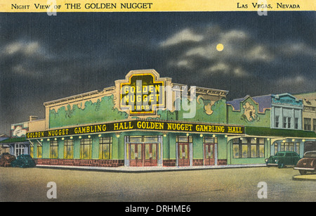 The Golden Nugget, Las Vegas, Nevada, USA - Stock Photo