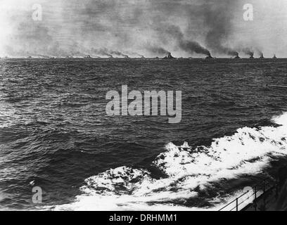 Ships of the British Grand Fleet, WW1 - Stock Photo