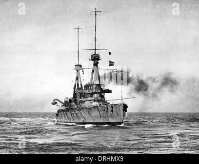 HMS Inflexible, British battlecruiser, WW1 - Stock Photo