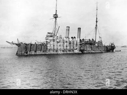 HMS Grafton, British cruiser, WW1 - Stock Photo
