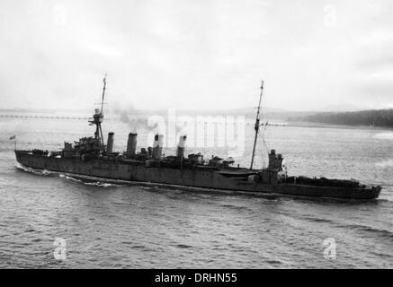 HMAS Sydney, British light cruiser, WW1 - Stock Photo