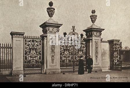 Main Gate - Kew Gardens, Kew, London, England - Stock Photo