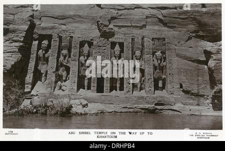 The small temple at Abu Simbel, Egypt - Stock Photo