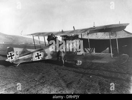 German biplane on Palestine Front, Turkey, WW1 - Stock Photo