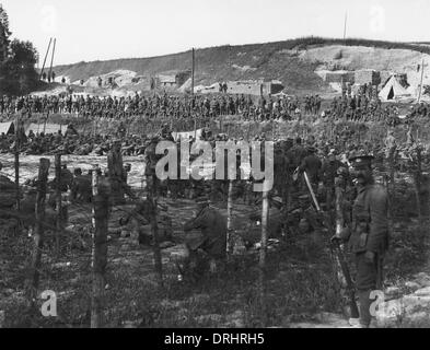 German prisoners of war, Somme Offensive, WW1 - Stock Photo