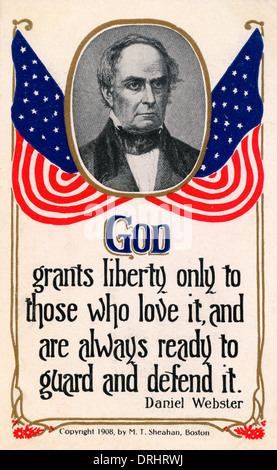 Daniel Webster and quote on God granting Liberty - Stock Photo