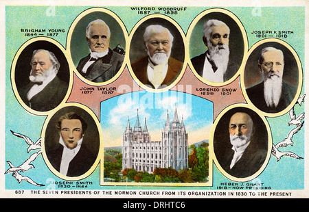 The Seven Presidents of the Mormon Church - Stock Photo