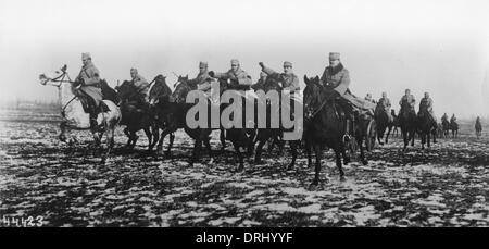 Austro-Hungarian cavalry in action, WW1 - Stock Photo