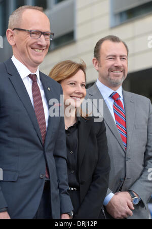 Ruesselsheim, Germany. 27th Jan, 2014. Mary Barra, Chief Executive Officer of US-car manufacturer General Motors - Stock Photo