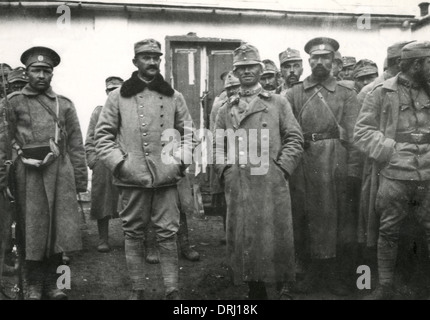 Austrian officers captured by the Russians, WW1 - Stock Photo