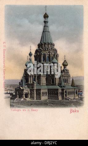 Alexander Nevsky Cathedral, Baku, Azerbaijan - Stock Photo