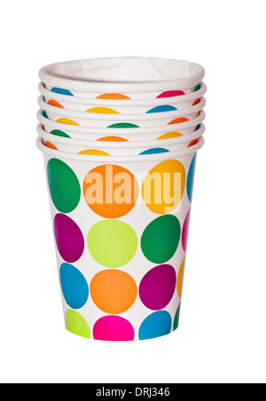 Party paper Cups Beakers - Stock Photo