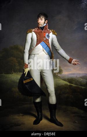Charles Howard Hodges (1764-1837). British painter. Portrait of Louis Napoleon, King of Holland, 1809. - Stock Photo