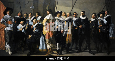 Frans Hals (c.1582-1666) and Pieter Codde (1599-1678). Militia Company of District XI under the Command of Captain - Stock Photo