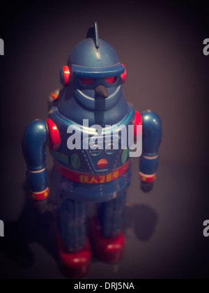A vintage Japanese science fiction wind up robot toy. - Stock Photo