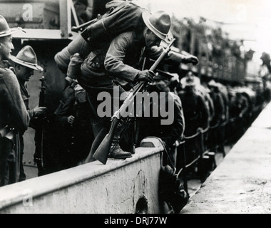 American Signal Corps at Brest, France, WW1 - Stock Photo
