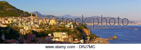 the town of vietri sul mare, coast of amalfi, campania, italy, europe - Stock Photo