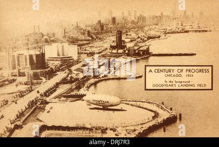 Goodyear Blimp Landing Field - Chicago, USA - Stock Photo
