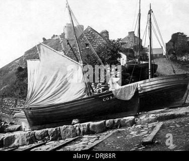 Criccieth, Cardigan Bay, Gwynedd, Wales - Stock Photo