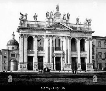 Basilica of St John Lateran, Rome, Italy - Stock Photo