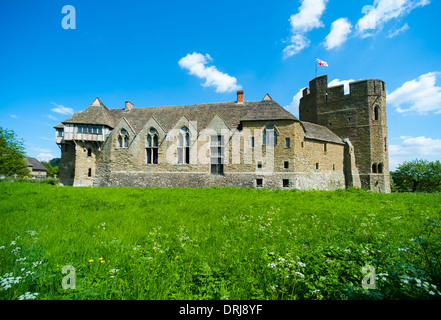 Stokesay Castle, a fortified manor house, in Summer, Shropshire, England. - Stock Photo