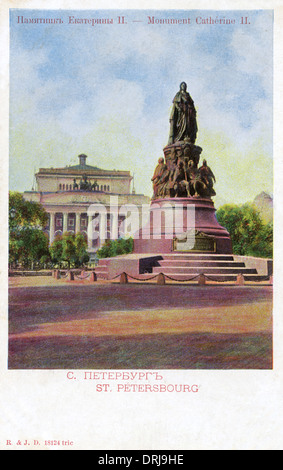 Statue of Catherine II ('The Great'), St Petersburg, Russia - Stock Photo
