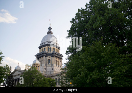 The Illinois State Capitol building in Springfield, Illinois on Apr. 23, 2012. - Stock Photo