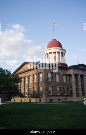 The Old State Capitol building in Springfield, Illinois on Apr. 23, 2012. - Stock Photo