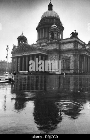 St Isaac's Cathedral, Leningrad (St Petersburg), Russia - Stock Photo