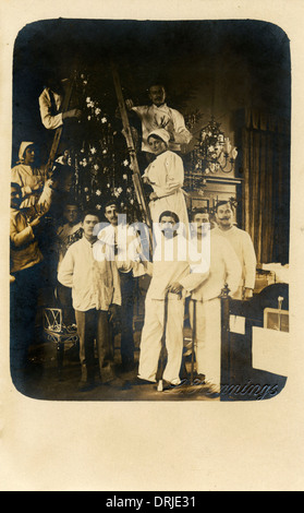 Convalescent Wounded Soldiers - WWI - Stock Photo