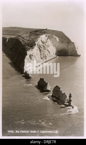 The Needles, Isle of Wight, Hampshire, England - Stock Photo