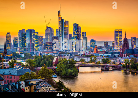 Frankfurt, Germany city skyline. - Stock Photo