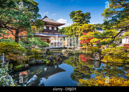 Ginkaku-ji Silver Pavilion during the autumn season in Kyoto, Japan. - Stock Photo