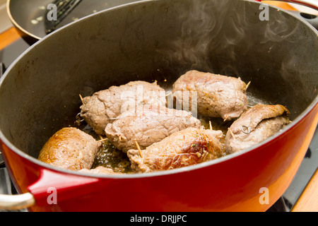 roulades in a pan - Stock Photo