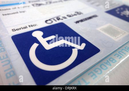 A disability blue badge - Stock Photo