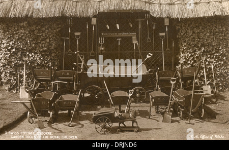 ... Garden Tools Used By The Royal Children.   Stock Photo