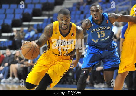January 27 2014 Ontario, CA.Terrence Williams #17 during the NBA D-League Basketball game between the Texas Legends - Stock Photo