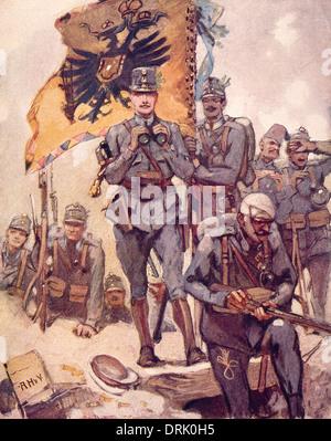 Austrian Deutschmeister regiment, WW1 - Stock Photo