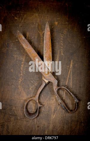 Rusty, scissors, close up - Stock Photo