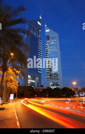 The Emirates Towers, Dubai, United Arab Emirates. - Stock Photo