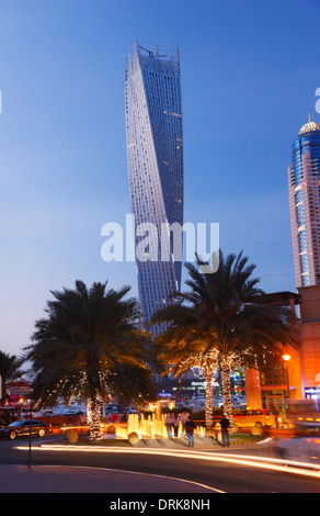 Dubai Marina. The twisted tower (Cayan tower). - Stock Photo