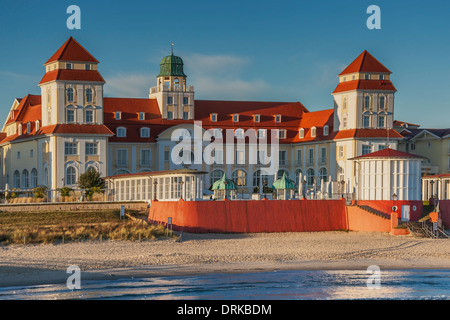 Kurhaus Binz, Ruegen Island, County Vorpommern-Ruegen, Mecklenburg-Western Pomerania, Germany, Europe - Stock Photo